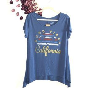 ⭐️Francesca's Good Vibes California Graphic Tee